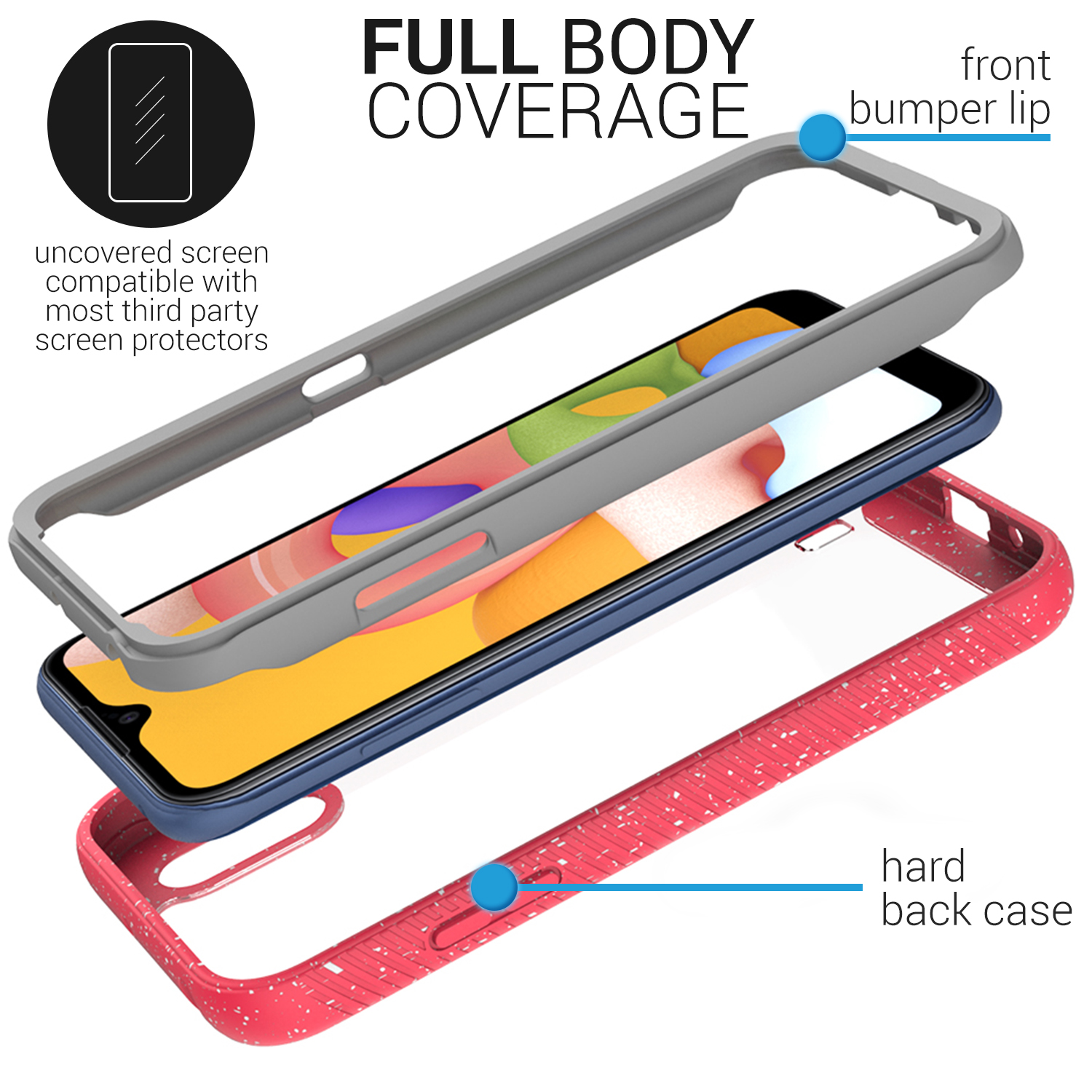 the best attitude a326c 8b9ba Details about For Nokia 6 (2018) / 6.1 Case Hard Kickstand Protective Slim  Phone Cover