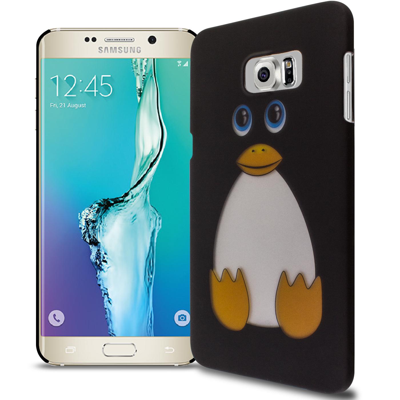 9168cfc38d Hard Case for Samsung Galaxy S6 Edge+ Plus - Cute Penguin Design Slim Back  Cover