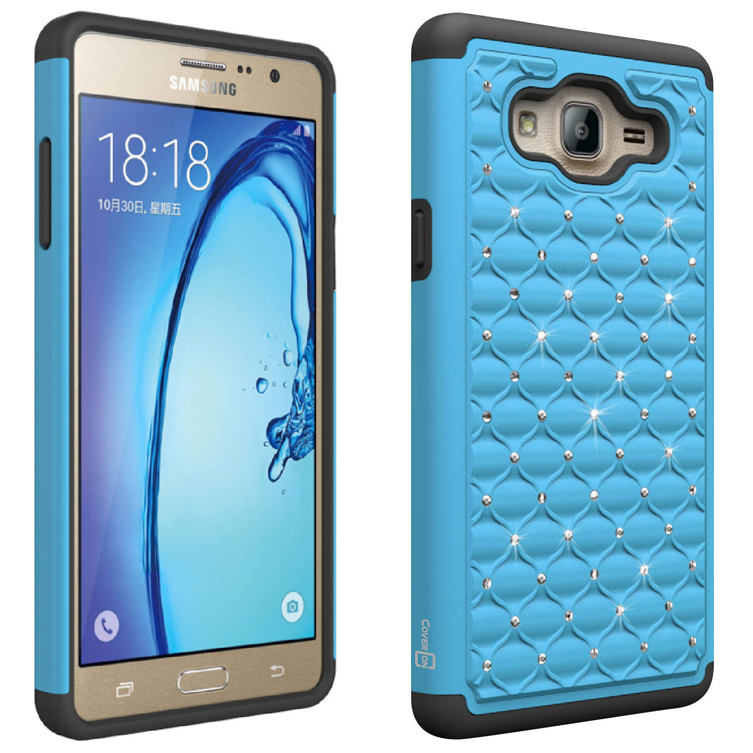 hot sale online 339d0 29ee7 For Samsung Galaxy On7 Case - Diamond Bling Hybrid Tough Protective ...