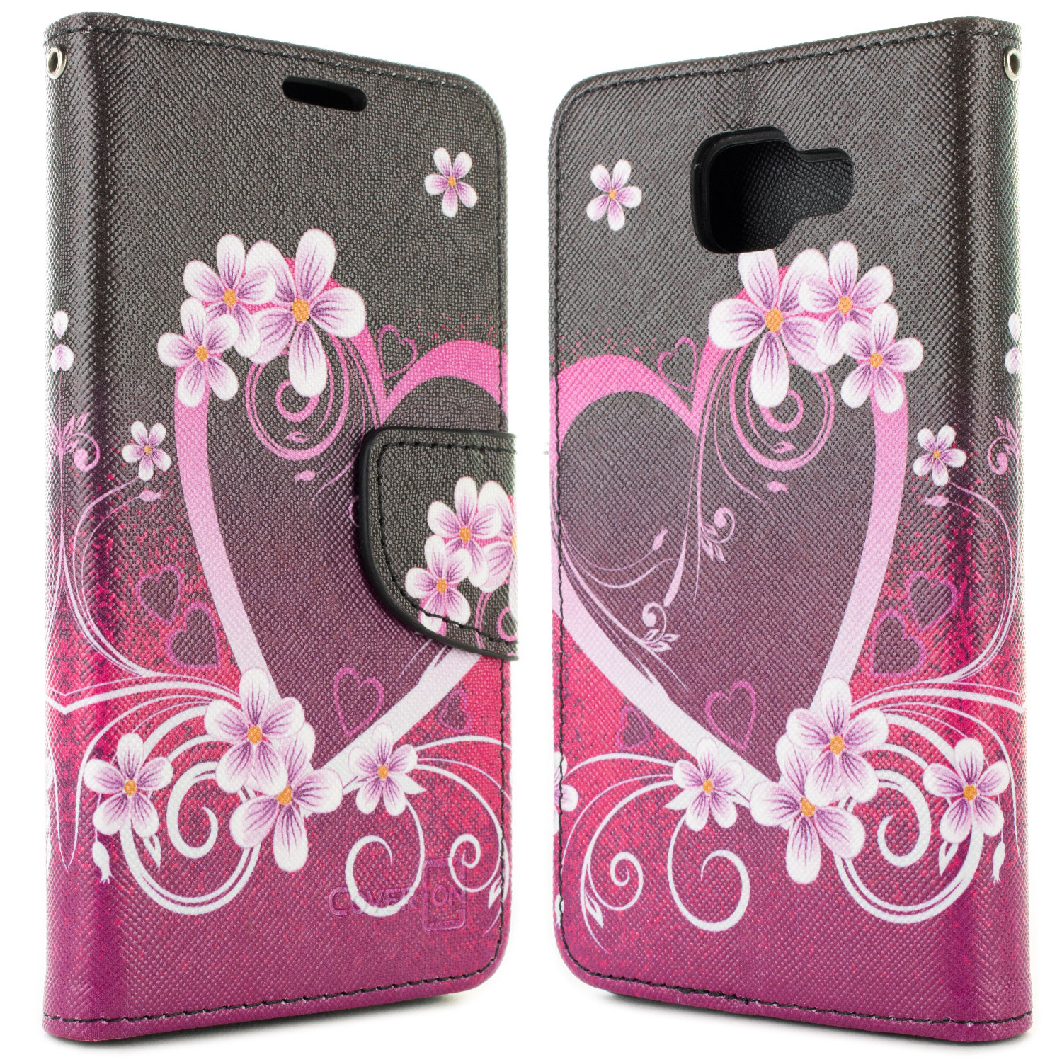 buy popular b8663 6b9b7 Details about Purple Heart Wallet Pouch Case Screen Protector For Samsung  Galaxy A5 2016 A510