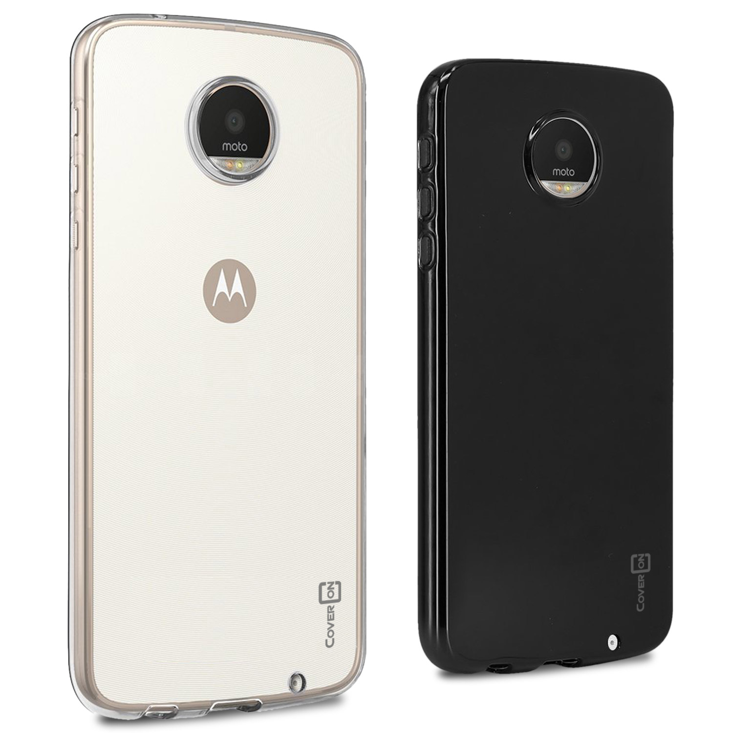save off a49ea 9ce96 Details about CoverON for Motorola Moto Z Play Droid Case Slim TPU Thin  Soft Phone Cover