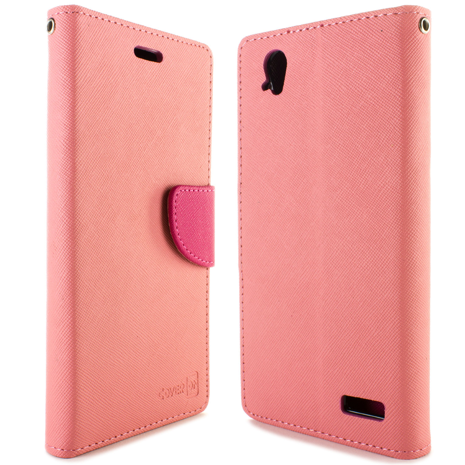 premium selection c08ce d1f44 Details about Light Pink & Hot Pink Wallet Folio Phone Case For ZTE Warp  Elite N9518 + Screen