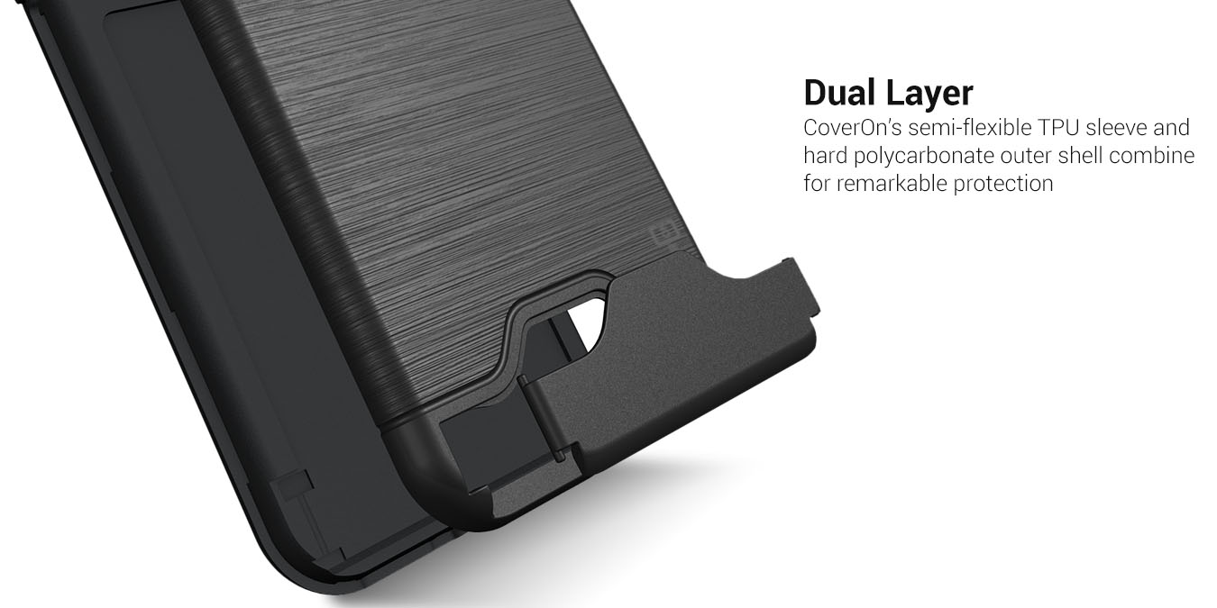 size 40 3f2b3 256ea Details about CoverON For Samsung Galaxy S8 Plus Case Slim Kickstand Credit  Card Slot Cover