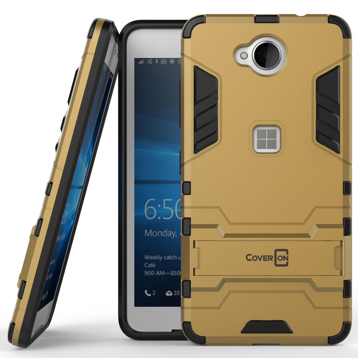 check out 10faf 5b4dc Details about for Microsoft Lumia 650 Phone Case Armor Kickstand Slim Hard  Cover Gold