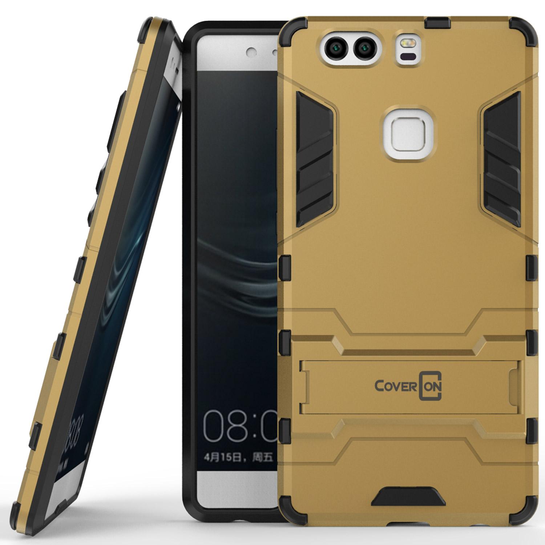 migliori scarpe da ginnastica f32c2 db6ca Details about For Huawei P9 Plus Hard Case Gold Kickstand Protective Phone  Cover
