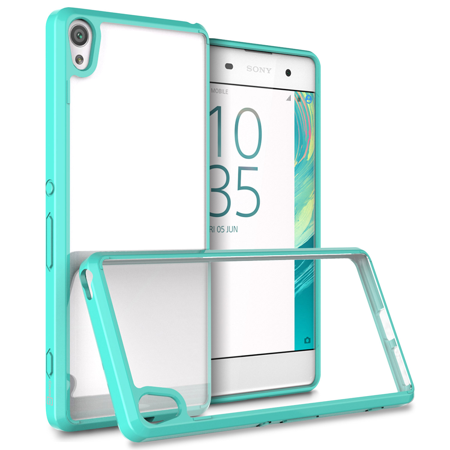 the best attitude 6128c 53512 Details about Teal Hybrid TPU Bumper Hard Back Phone Cover Case for Sony  Xperia XA