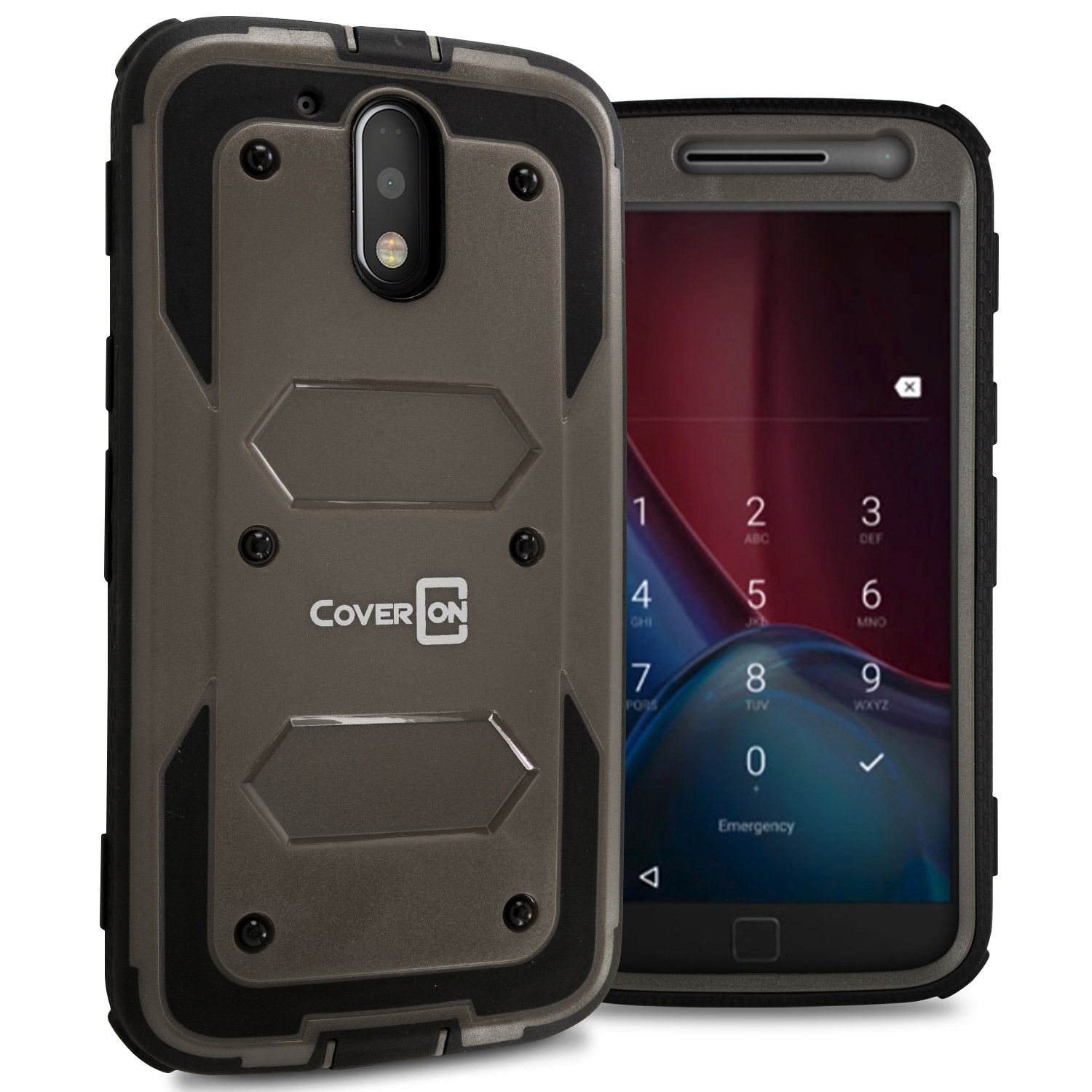 11948d0770a Details about for Motorola Moto G4 (Moto G 4th Gen)  Moto G4 Plus Gray Case  Protective Cover