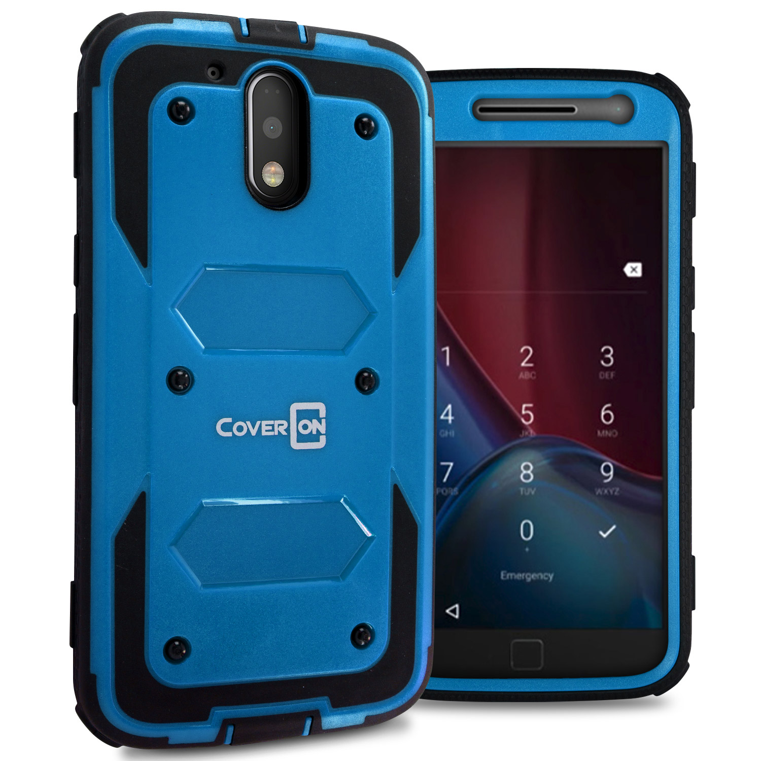 9027f53cbc2 Details about For Motorola Moto G4   Moto G4 Plus Blue Case Protective  Armor Hard Phone Cover