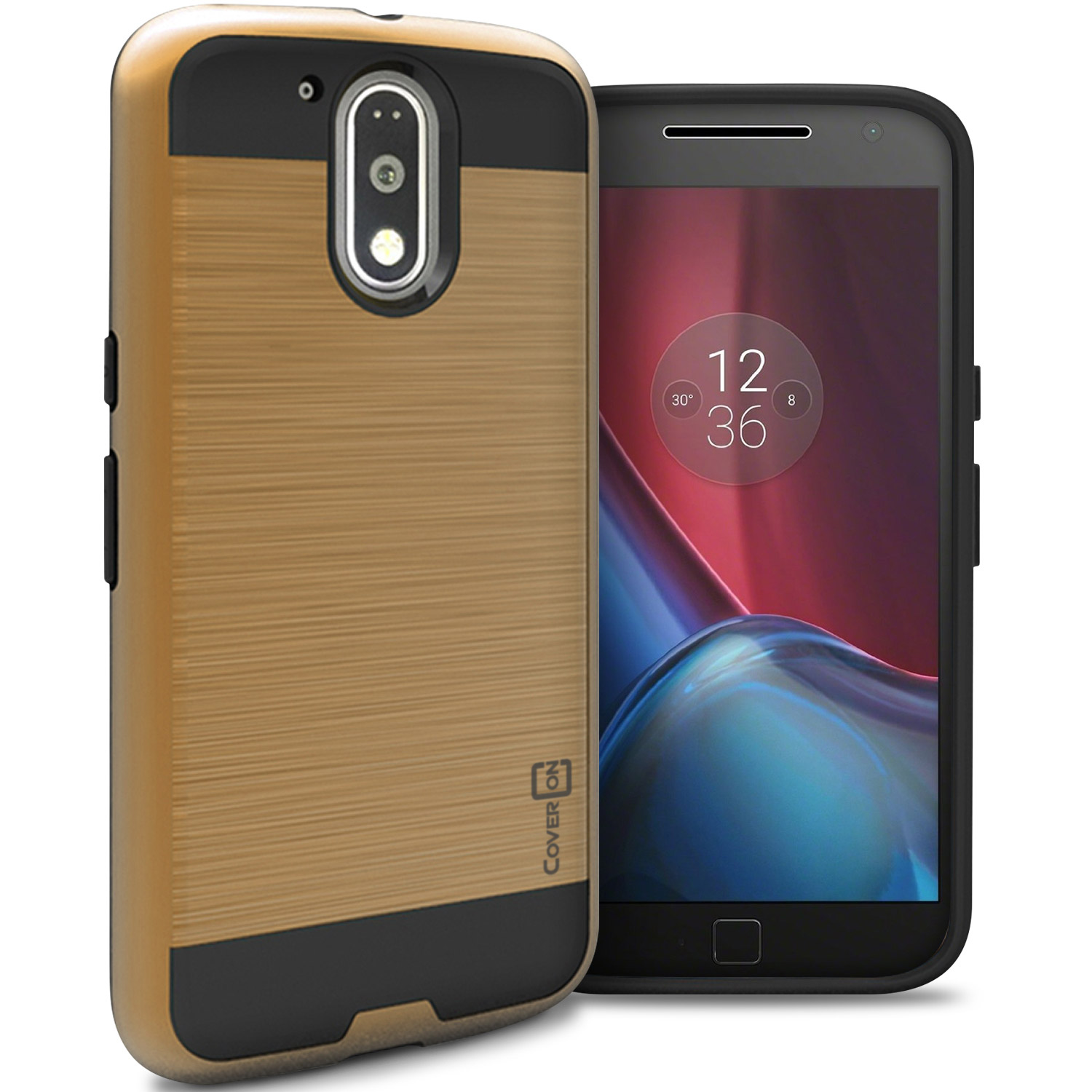 official photos c3f23 0f503 Details about for Motorola Moto G4 / Moto G4 Plus Case - Gold Slim Rugged  Hybrid Phone Cover