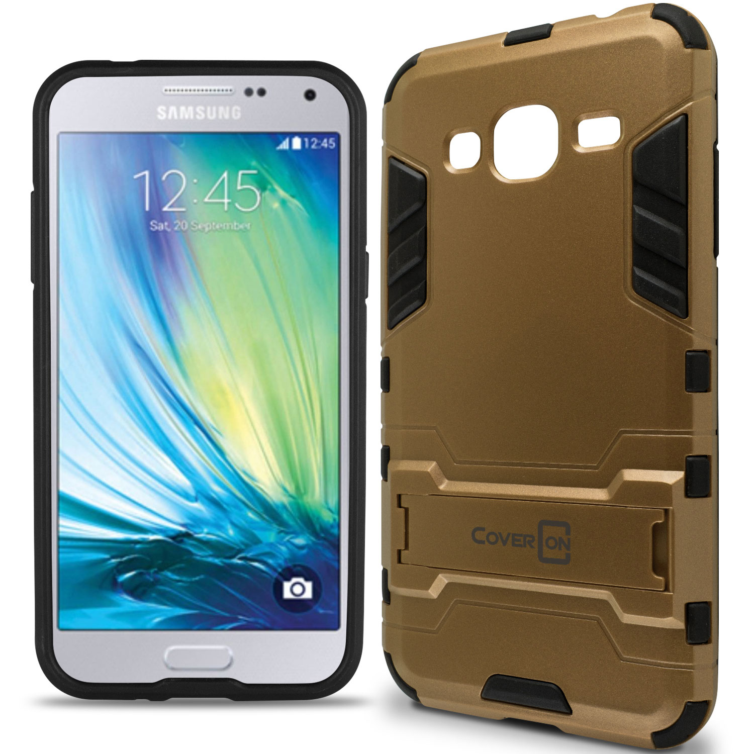 new style 05ff9 4df00 Details about For Samsung Galaxy J3V / J3 V / J3 Nova / Galaxy J3 2016 Case  Hard Cover Gold