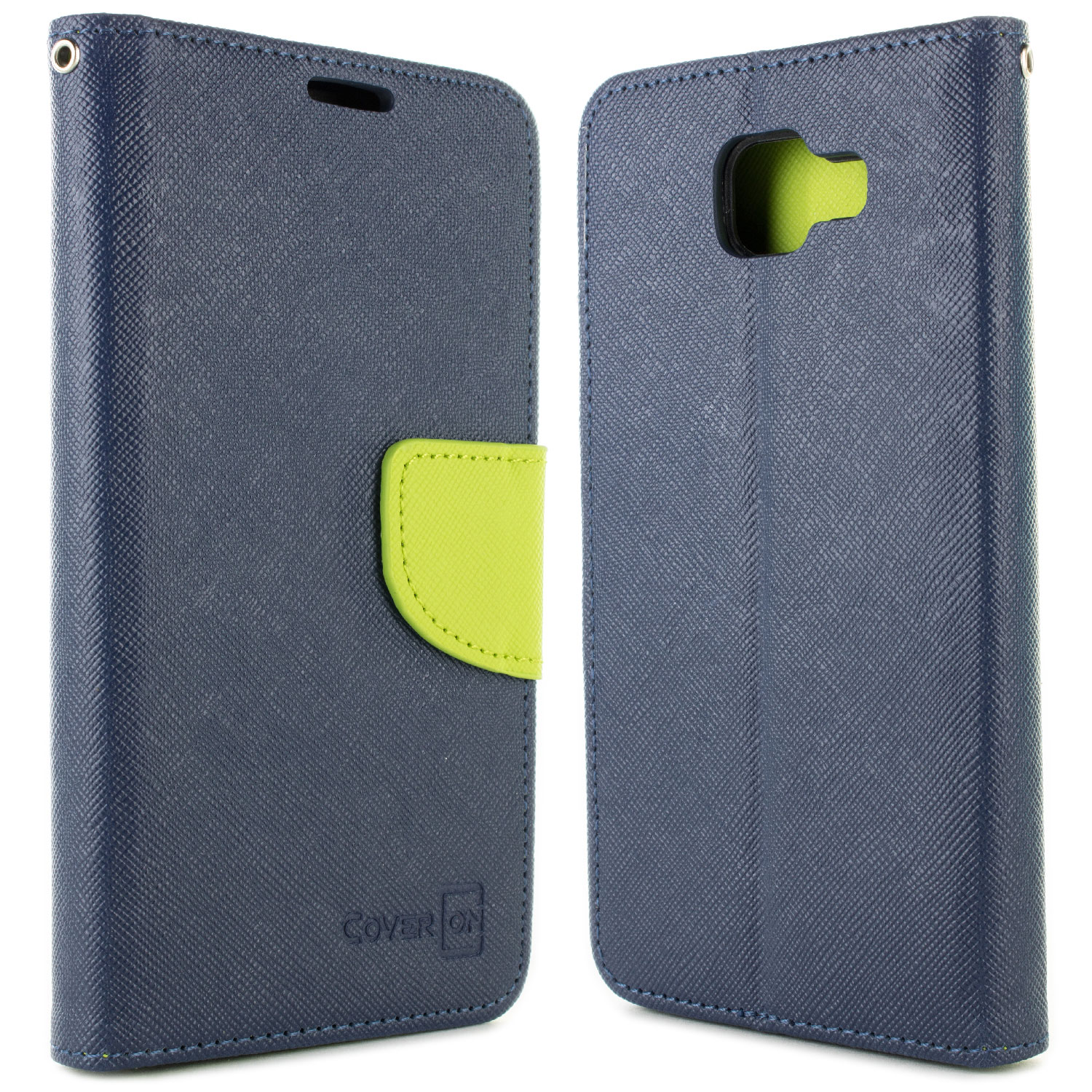 super popular b342c 7dad1 Details about Navy / Neon Green Cover for Samsung Galaxy A5 2016 A510 Card  Case Holder Pouch