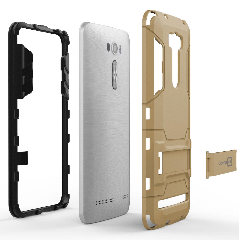 Pc Tpu Hybrid Armor Kickstand Case For Asus Zenfone 2 Laser Ze601kl Back 6 0 Hard Protective Slim Phone Cover