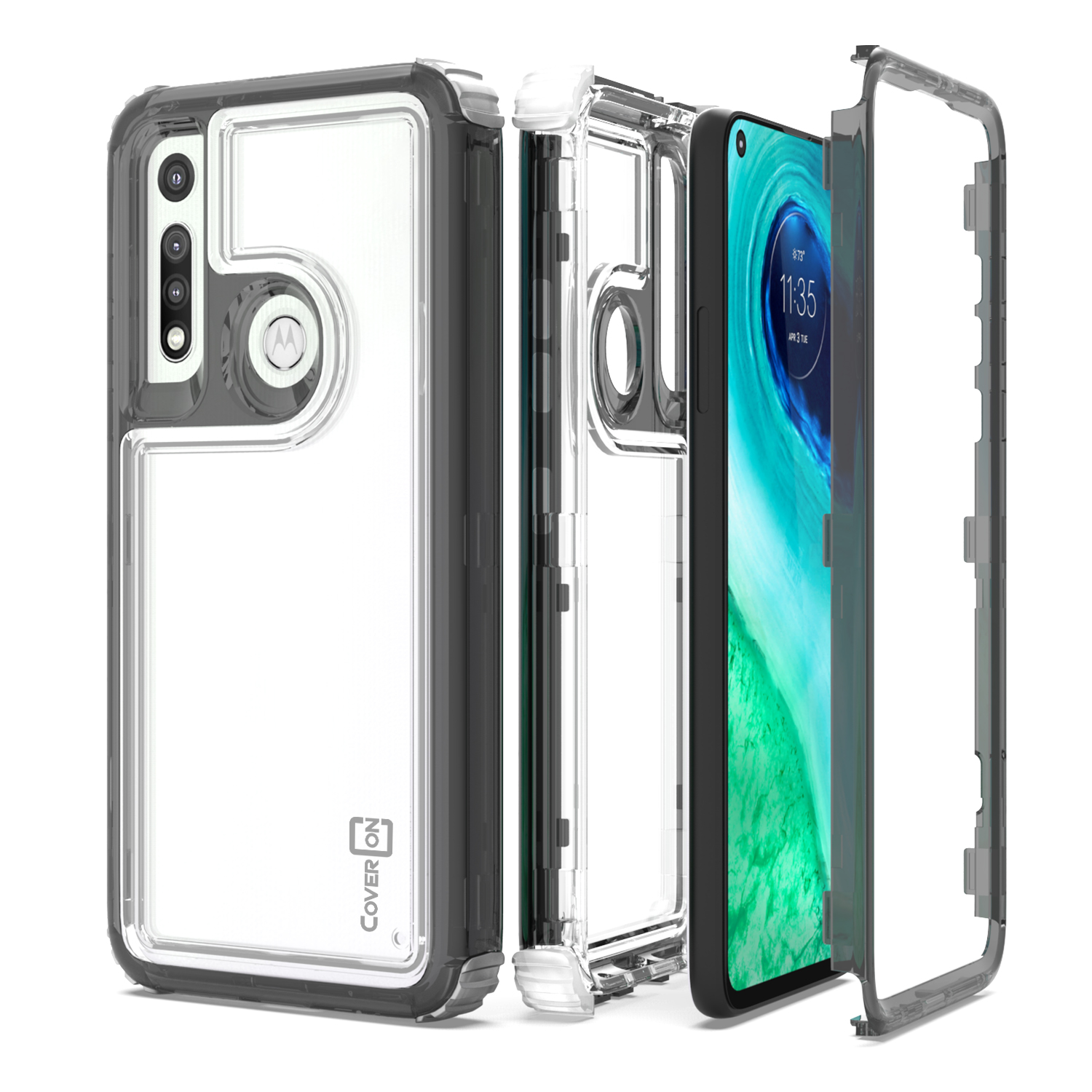 low priced acd9a d607b Details about Hybrid Slim Fit Hard Back Cover Case For Sony Xperia XZ1  Compact Black / Clear