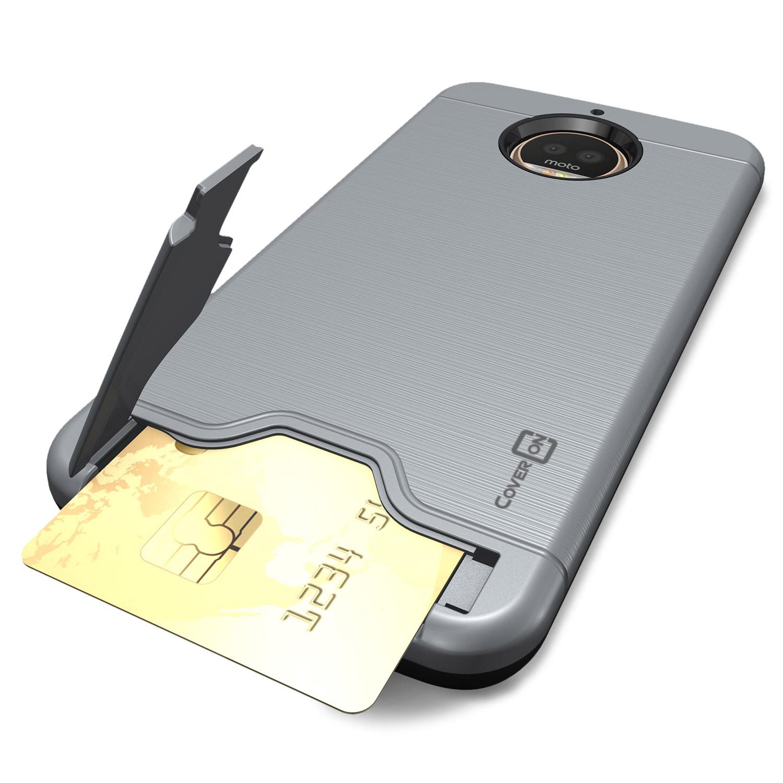 sale retailer 46ba0 26f32 For Motorola Moto G5S Plus Phone Case Card Holder Kickstand Slim ...