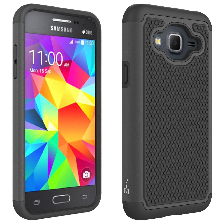 buy online 04096 30545 Details about For Samsung Galaxy J3V / J3 V / J3 Nova / Galaxy J3 2016 Case  Hybrid Cover Black
