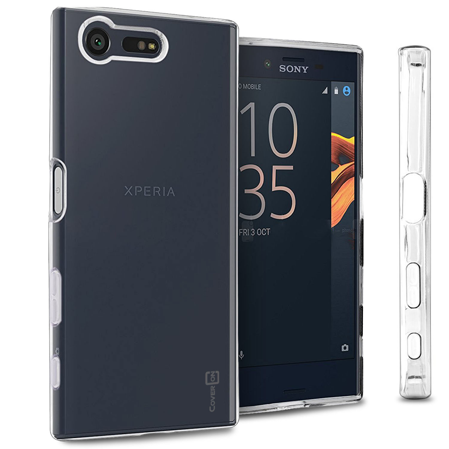 quality design 95824 e0c1b Details about Clear Case for Sony Xperia X Compact Flexible Shockproof Slim  Rubber TPU Cover
