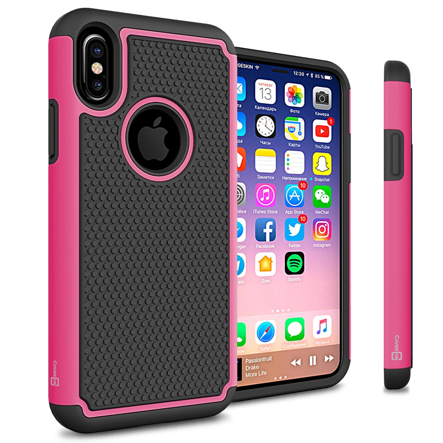 hot pink iphone xs case