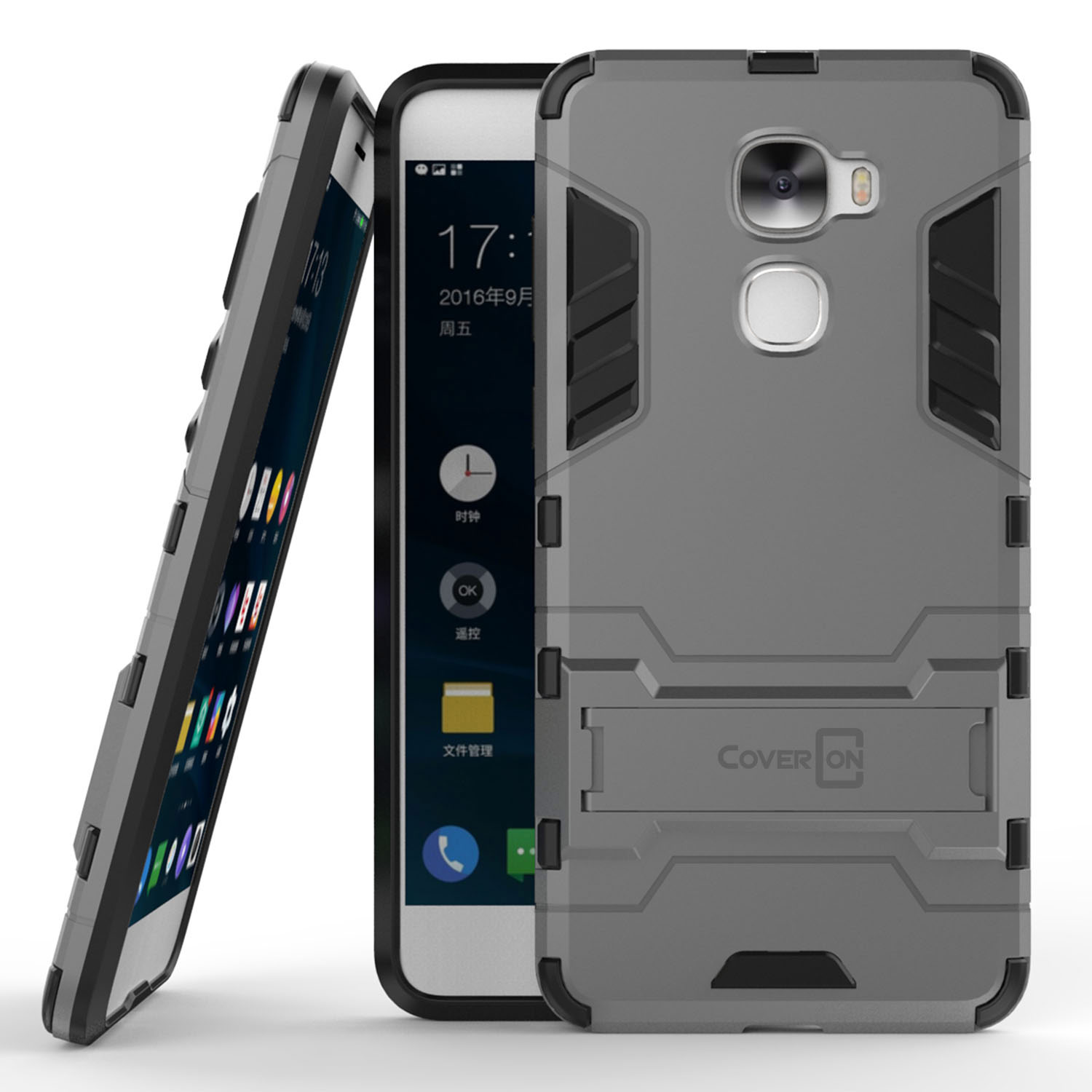 sale retailer 2f9bc dbd9b Details about for LeEco Le Pro 3 Phone Case Armor Kickstand Slim Hard Cover  Gray / Black