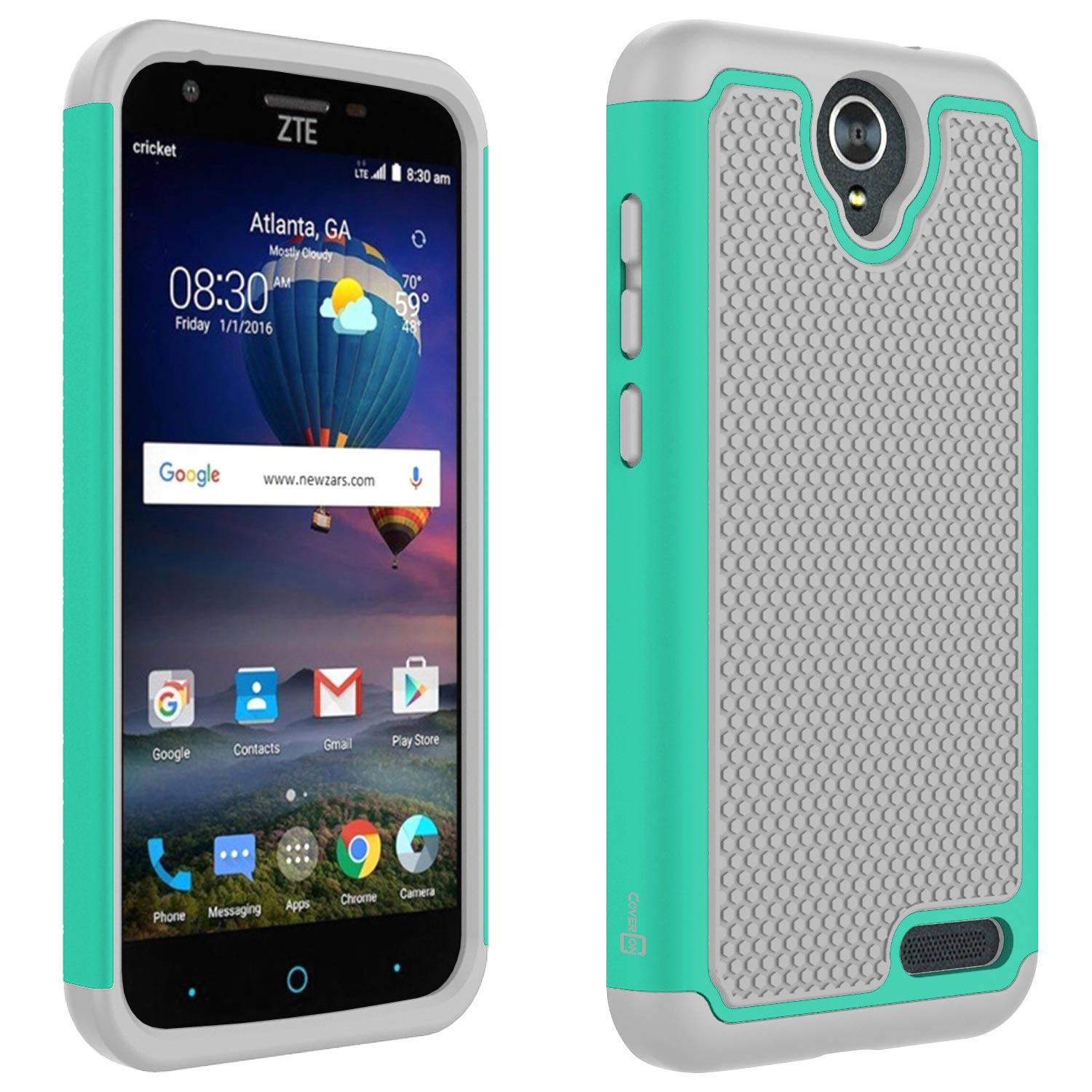 newest 5f5c9 3a77c Details about Teal / Gray Case For ZTE ZMax 3 / ZMax Champ / ZMax Grand /  Grand X3 / Avid 916