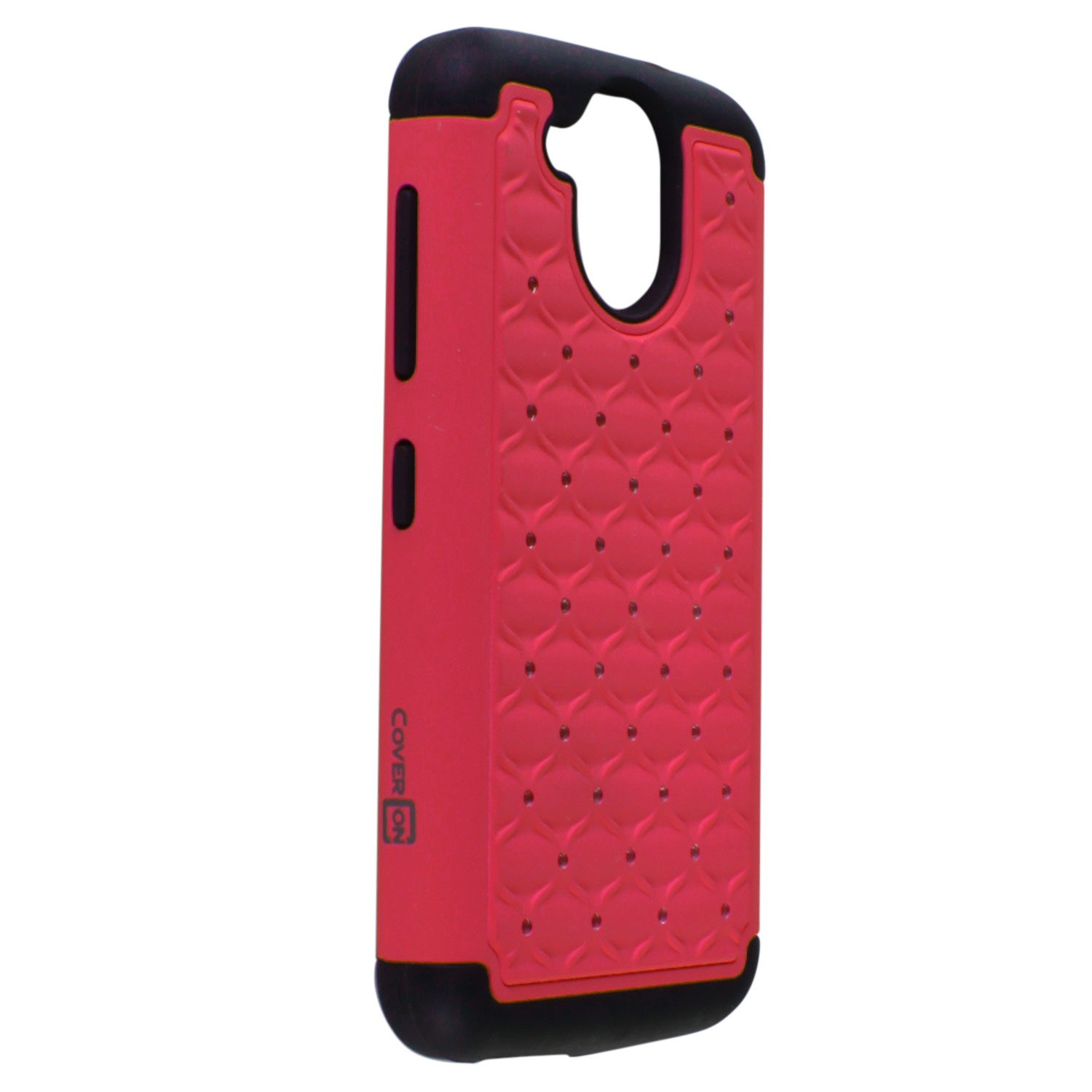 huge selection of 363b8 fbc18 Details about For HTC Desire 526 Case - Hot Pink/Black Hybrid Diamond Bling  Skin Phone Cover