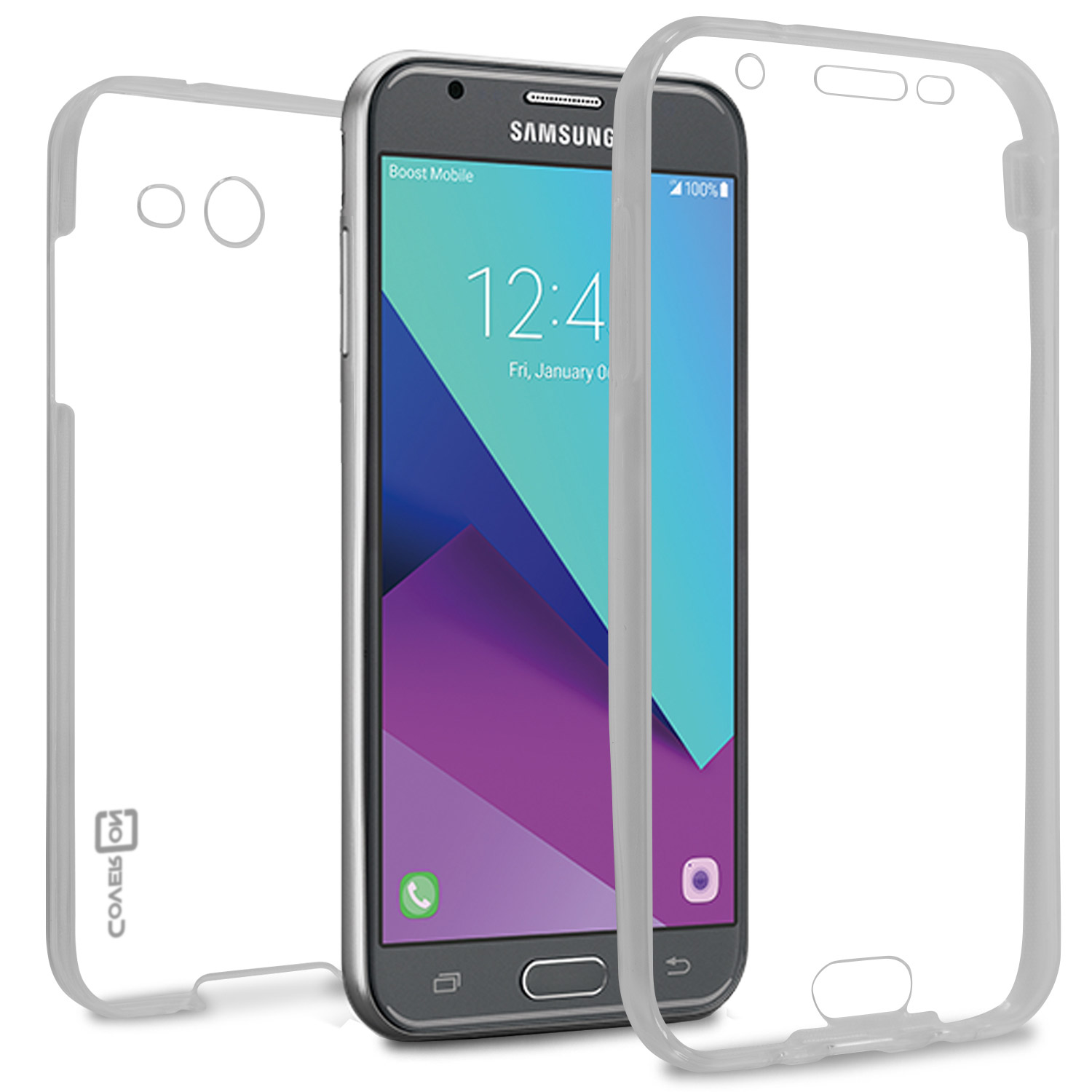 online store 55498 8c5f0 Details about Clear Front & Back Thin Flexible Case For Samsung Galaxy  Express Prime 2 / Sol 2