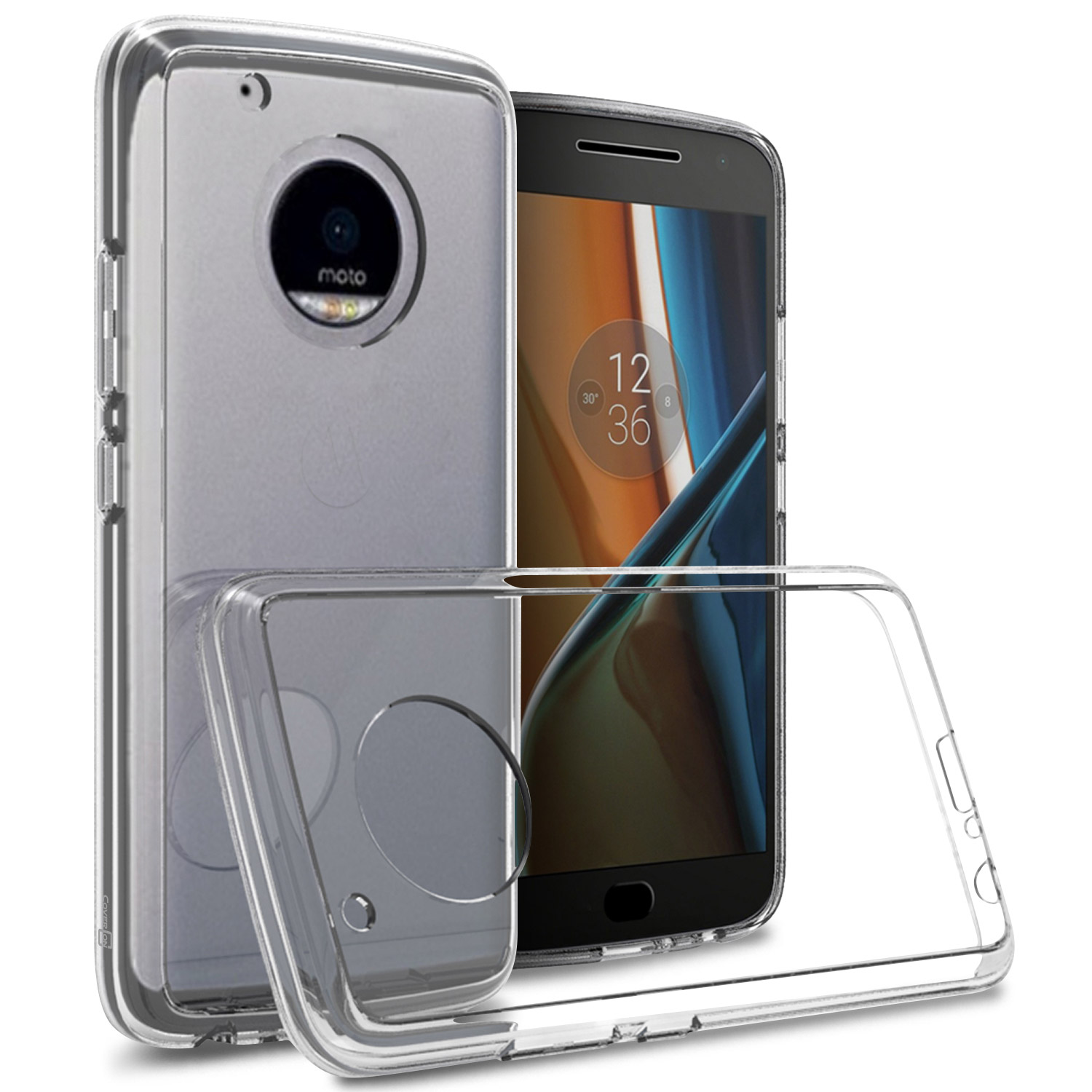 new product ea20e aa54a Details about Clear Hybrid TPU Bumper Hard Cover Case For Motorola Moto G5  Plus / Moto X 2017