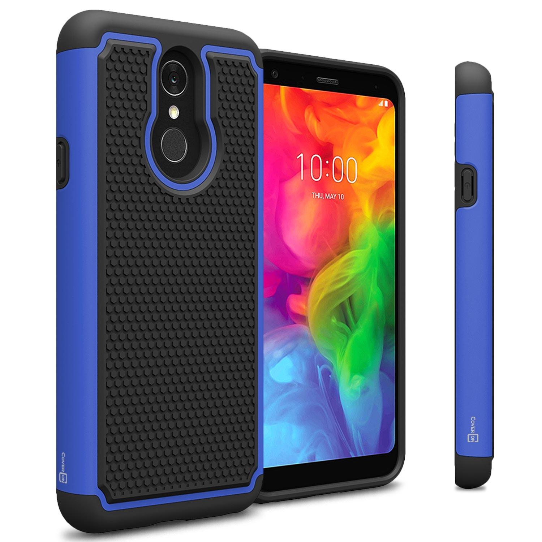 quality design 0c84a bda49 Details about Blue / Black Hard Case For LG Q7 / Q7 Plus / Q7 Alpha Hybrid  Slim Phone Cover