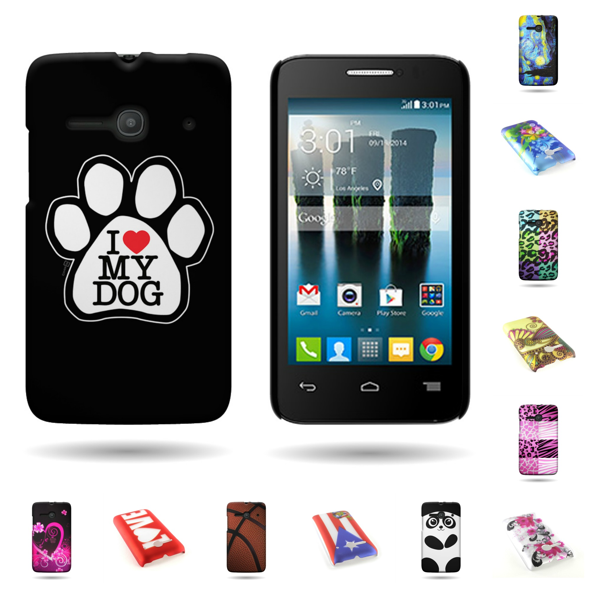 best service 2cc0e b9aed Details about For ALCATEL One Touch Evolve 2 4037T Case Hard Design Back  Cover