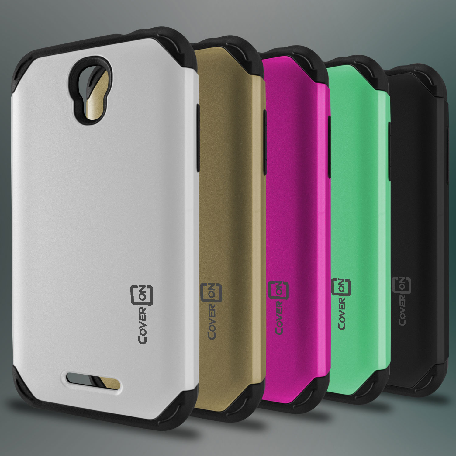 official photos c4c0b 99051 For ALCATEL One Touch Elevate Case - Hybrid Slim Tough Phone Cover ...