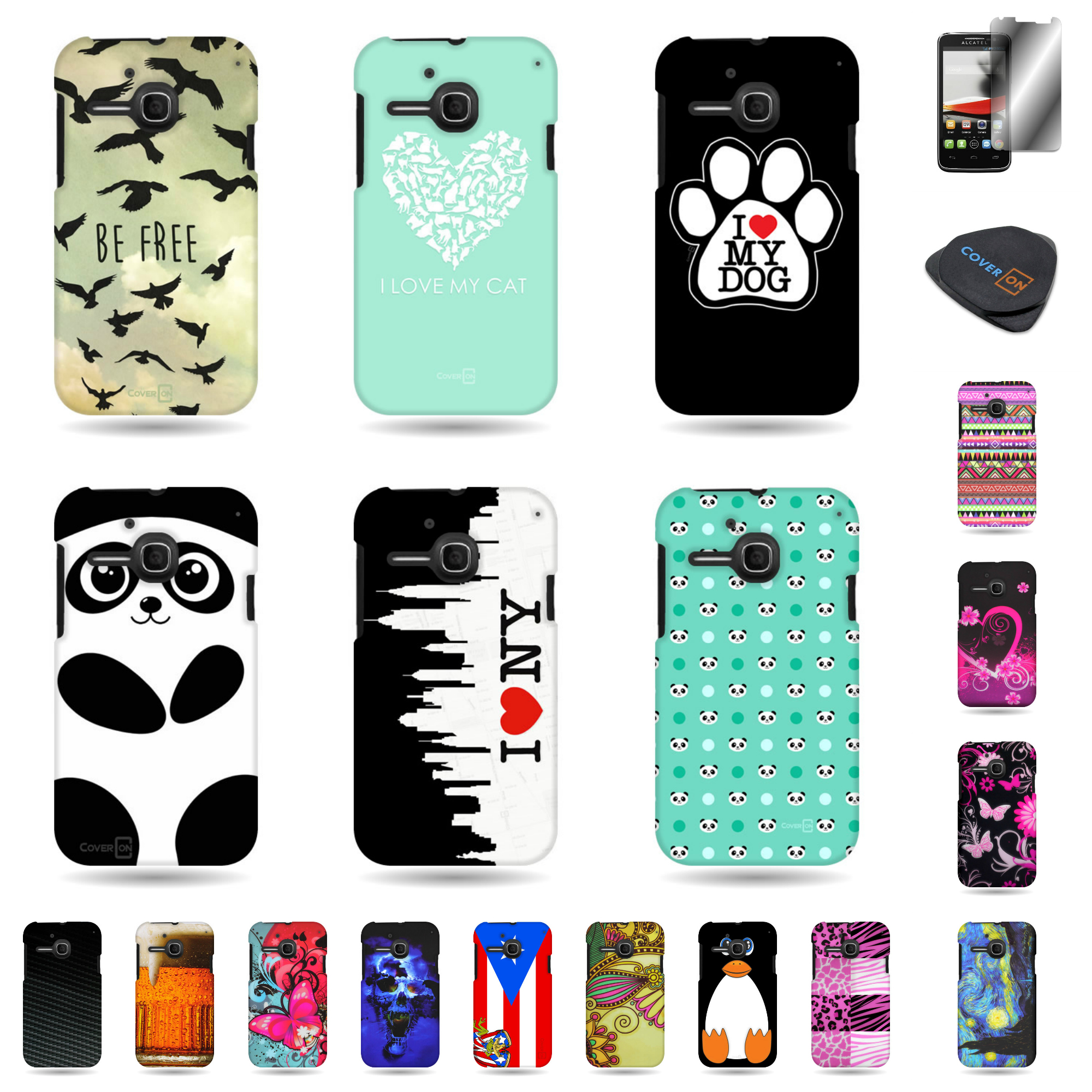 promo code 85658 ce533 For ALCATEL One Touch Evolve 5020T (1st Gen) Various Case Hard ...