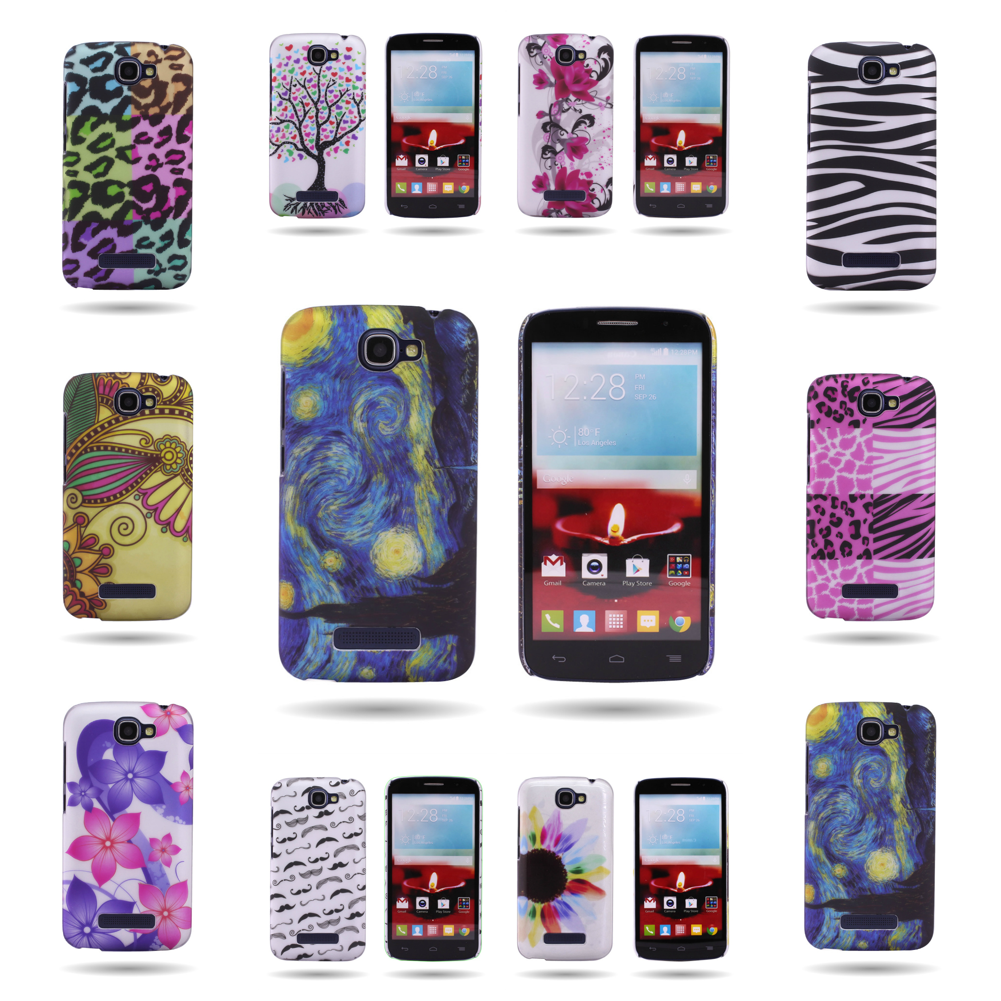 100% authentic 44817 6eddf For Alcatel One Touch Fierce 2 / Pop Icon Hard Back Design Phone ...