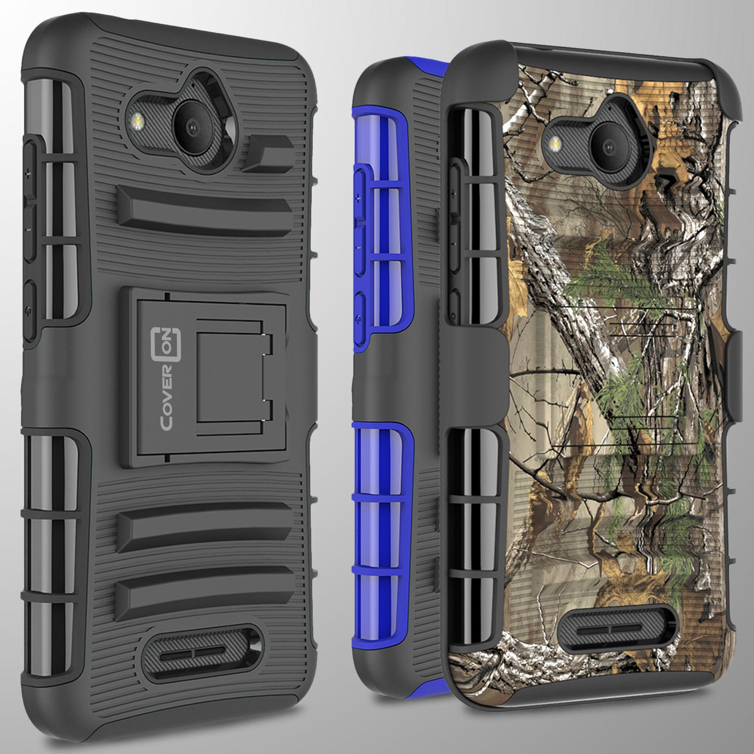 For Alcatel Tetra / 5041C Belt Clip Holster Tough Shockproof Phone