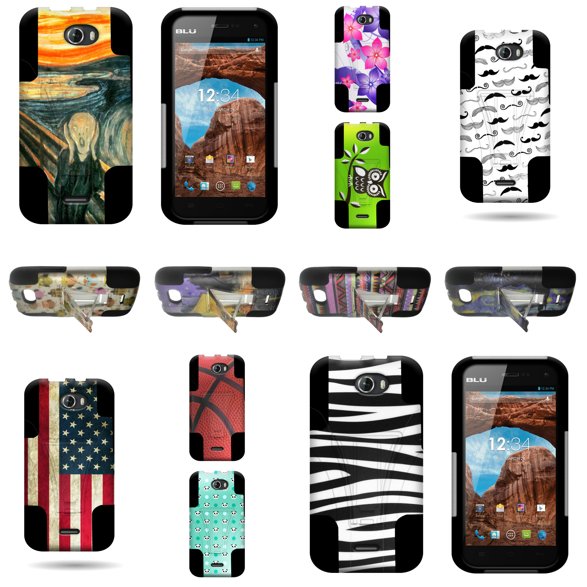 premium selection cd918 77cd6 For BLU Studio 5.0 II - Dual Layer Hybrid Phone Case With Unique ...