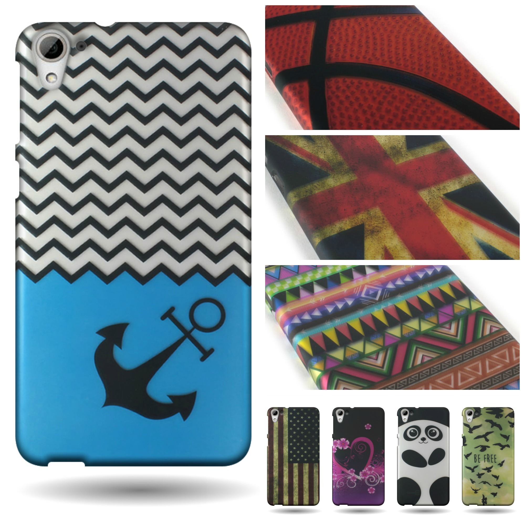 new product 98b63 174c7 For HTC Desire 826 Thin Design Case Hard Slim Snap On Phone ...