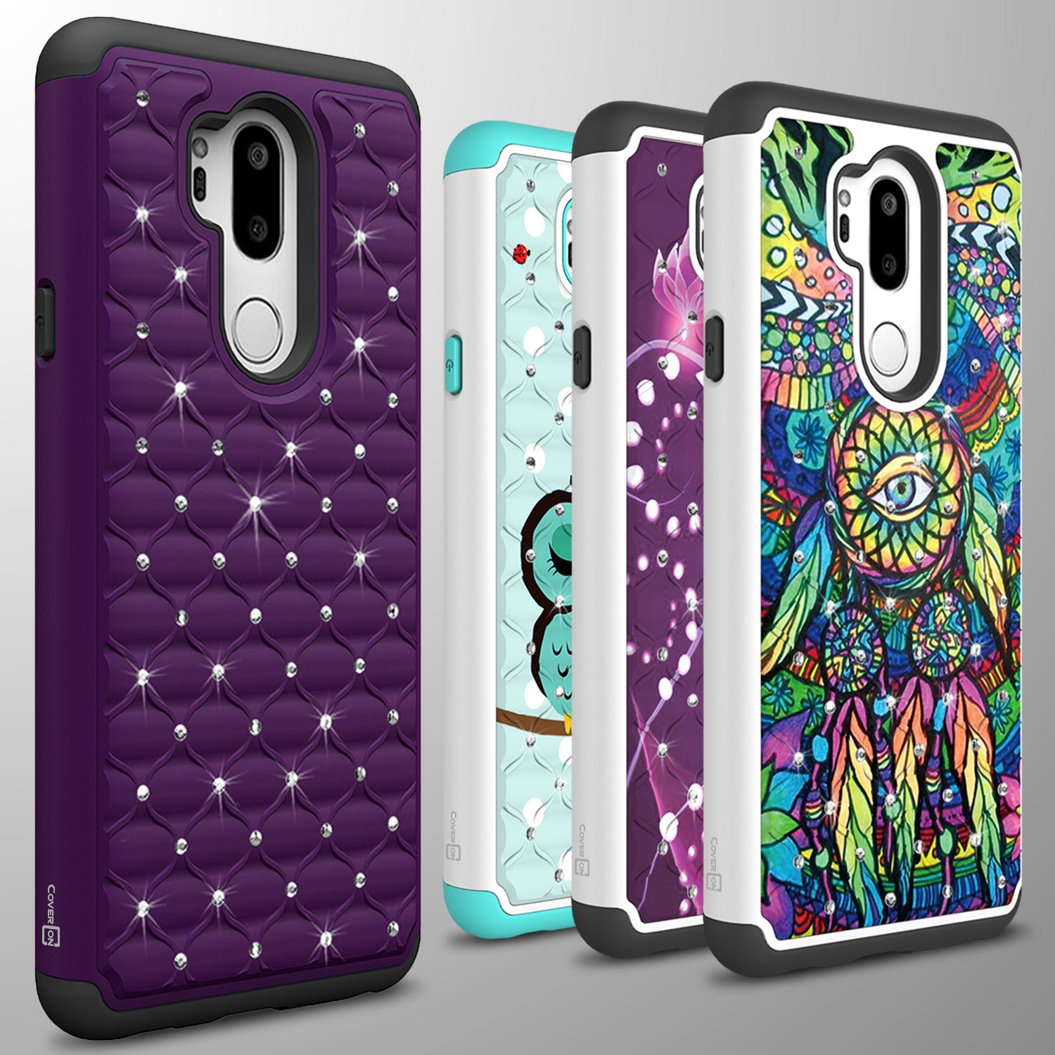 Details about For LG G7 ThinQ Case Diamond Bling Hybrid Tough Shockproof  Slim Phone Cover