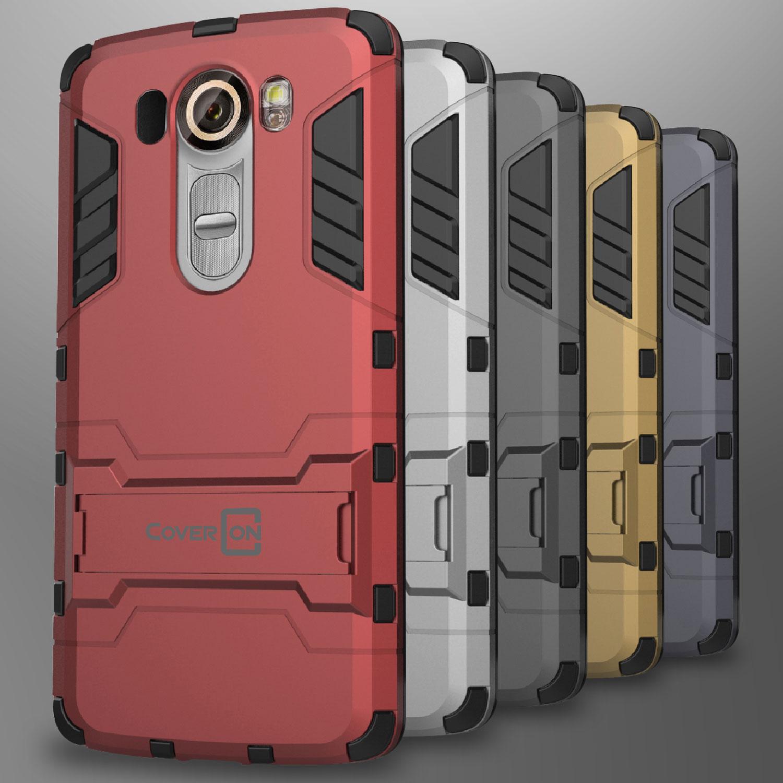 premium selection 42e4b c0303 For LG V10 Case Slim Hard Kickstand Hybrid Dual Layer Protective ...