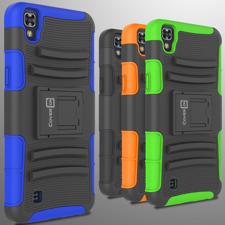 size 40 f86ee 1e61c Hybrid Kickstand Case & Holster for LG X Power Belt Clip Cover | eBay