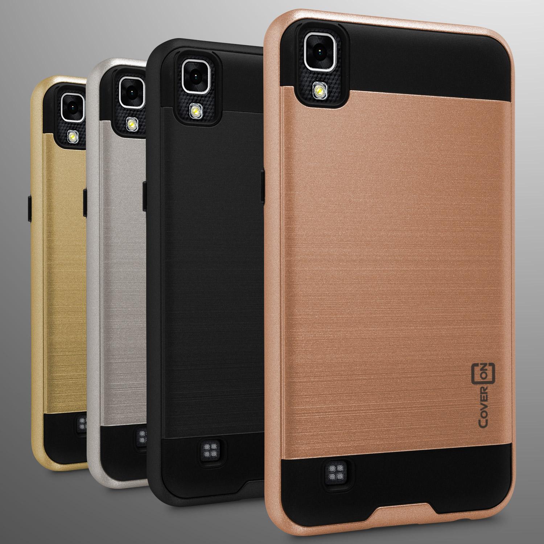 For Lg X Power Case Slim Hard Faux Brushed Metal Phone Cover Ebay Flip Blaupunkt Sonido X1