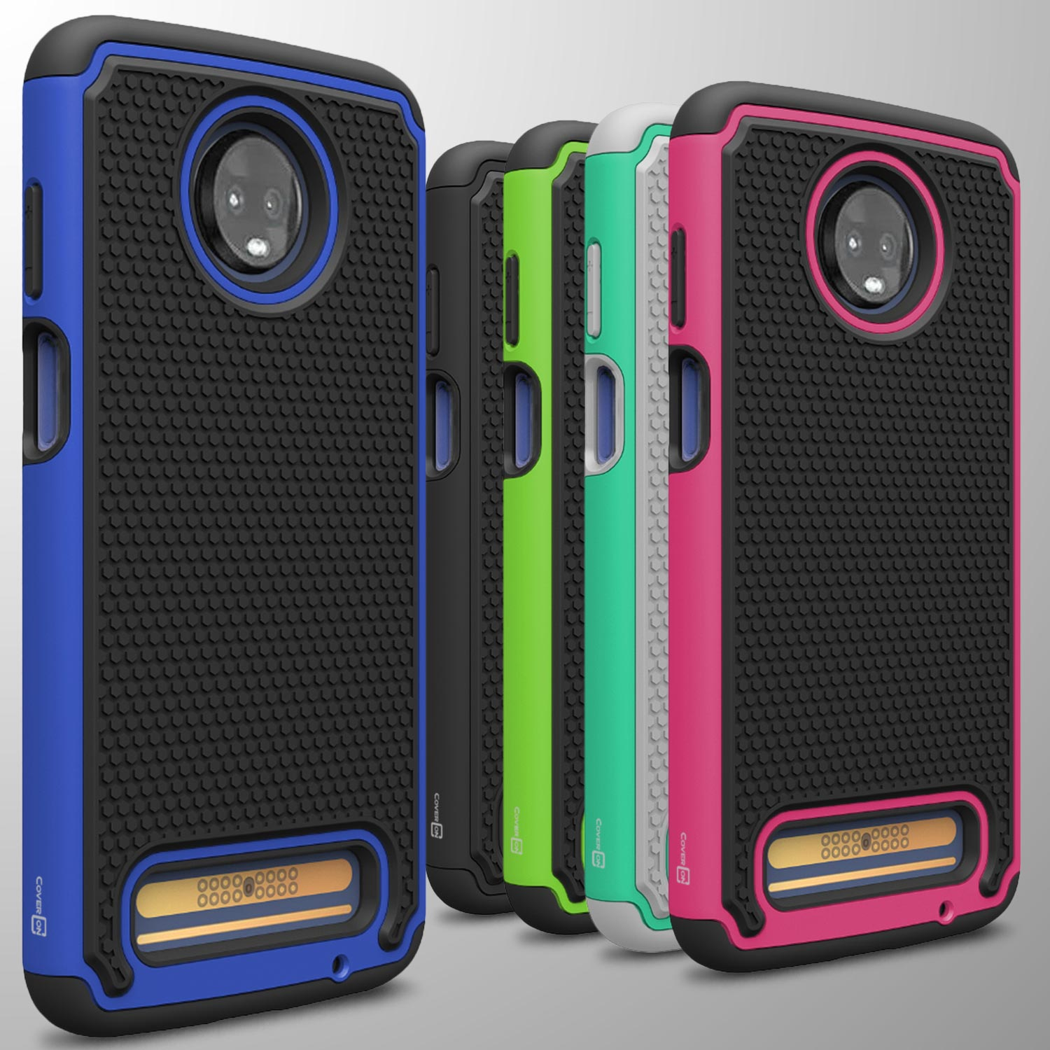 new product f1fa3 bf202 For Motorola Moto Z3 Play / Moto Z3 Case Tough Protective Hybrid ...