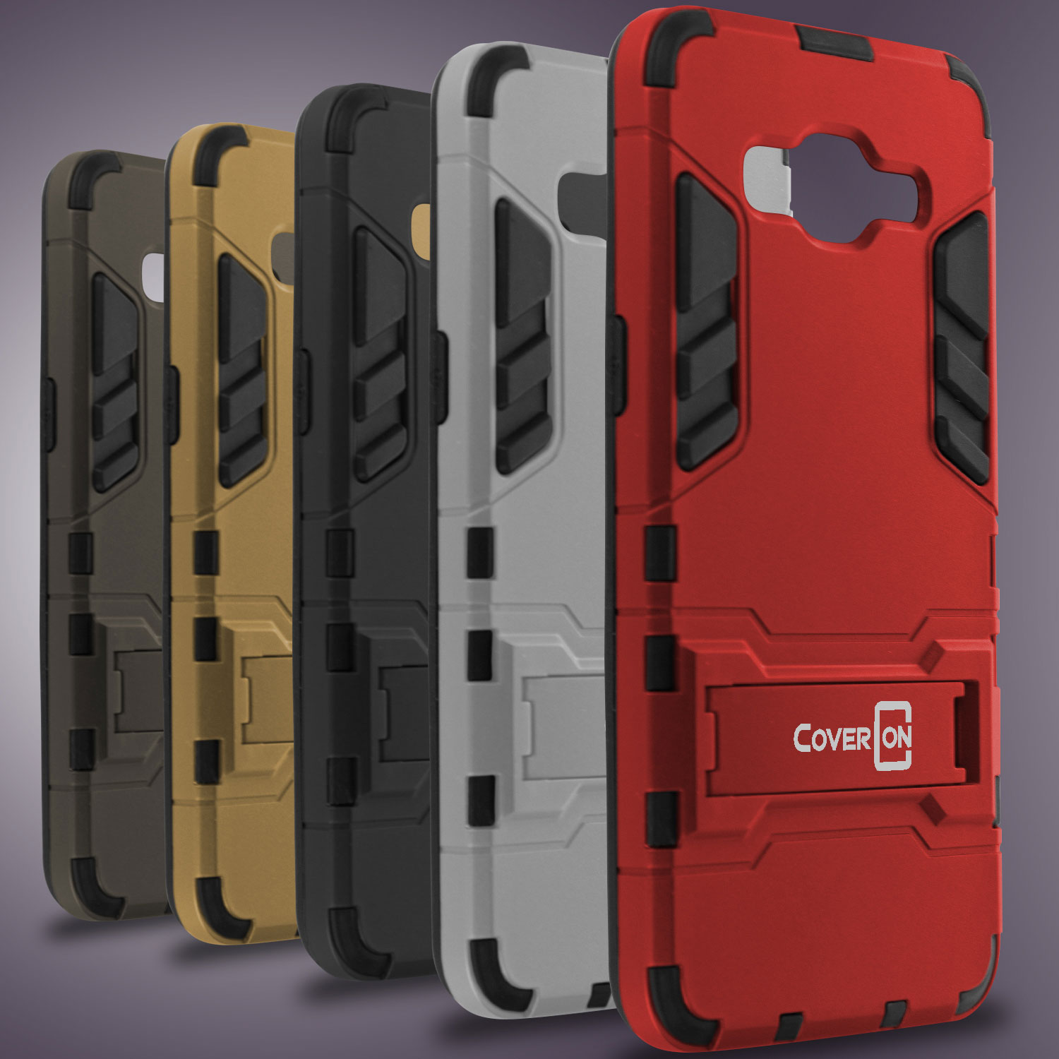Details about For Samsung Galaxy Grand Prime Case Hard Armor Slim Kickstand Protective Cover