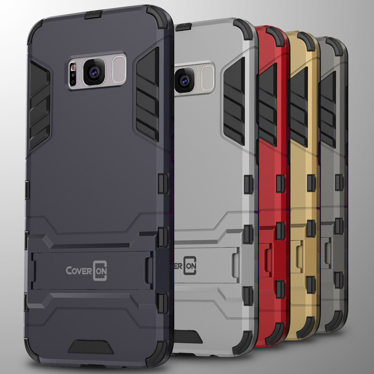 best loved 3e059 03828 Details about For Samsung Galaxy S8 Case Hard Kickstand Protective Slim  Phone Cover