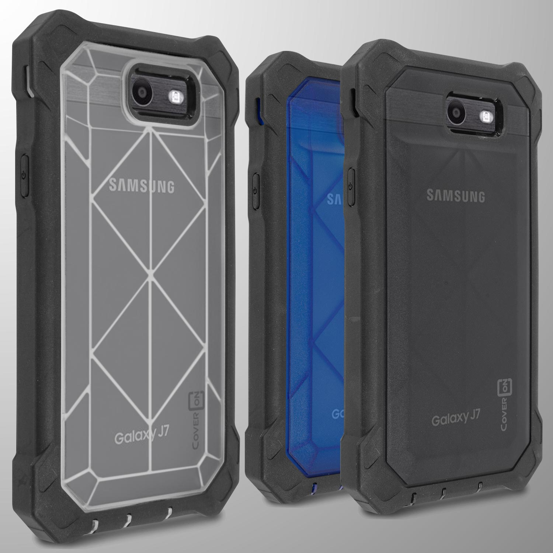 newest 3ca05 284e2 For Samsung Galaxy J7 Prime / J7 Sky Pro / Halo Case Tough Full Body ...