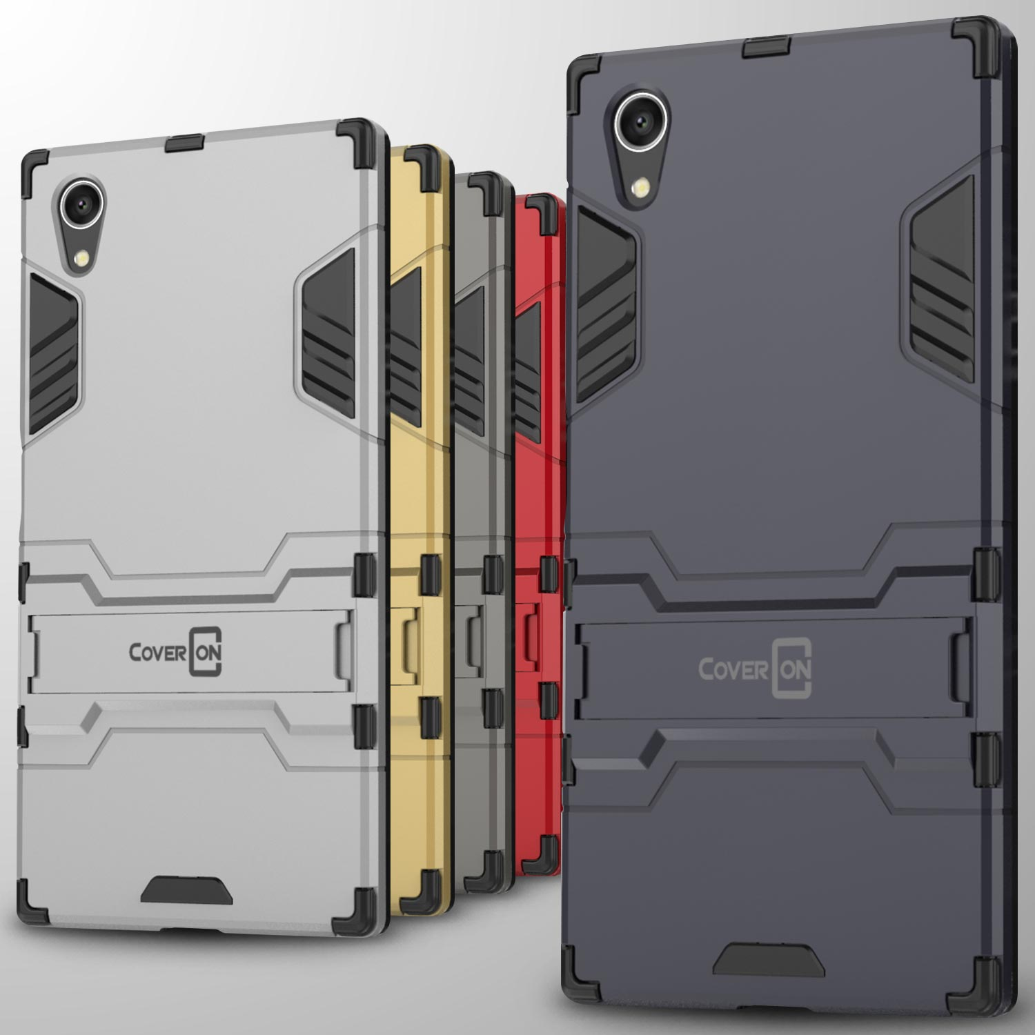 factory authentic ba088 6f988 For Sony Xperia XA1 Plus Case Hard Kickstand Protective Slim Phone ...