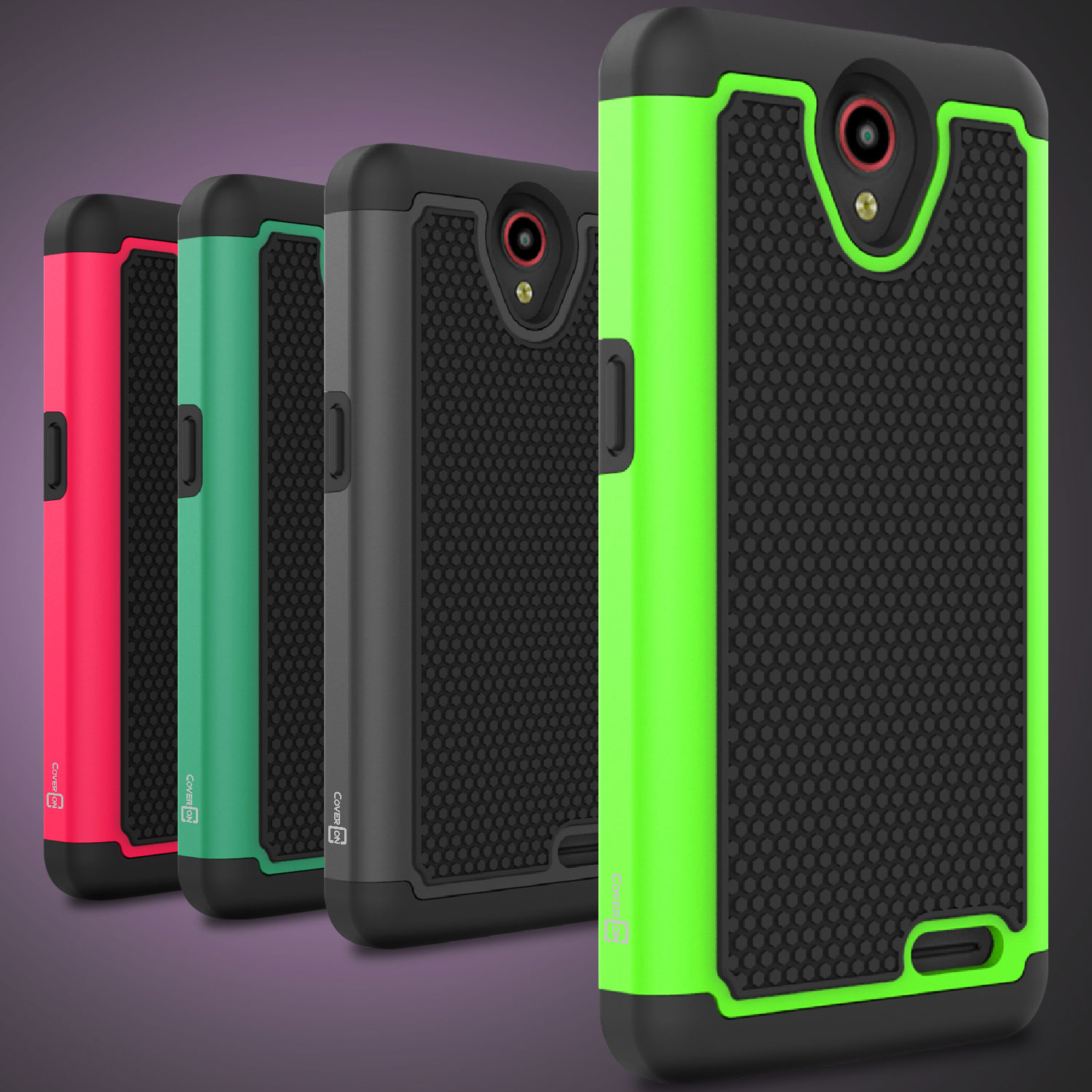 Details about Dual Layer Protective Hybrid Case for ZTE Avid Trio/ Avid  Plus/ ZFive 2