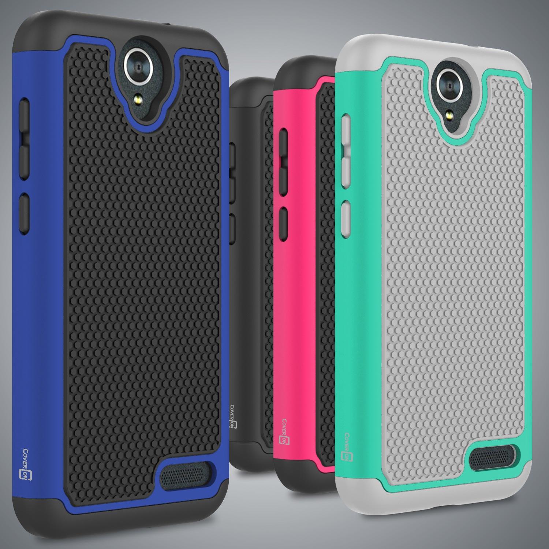 sale retailer 85de7 5d789 For ZTE ZMax Champ / ZMax Grand / Avid 916 Case Tough Protective ...