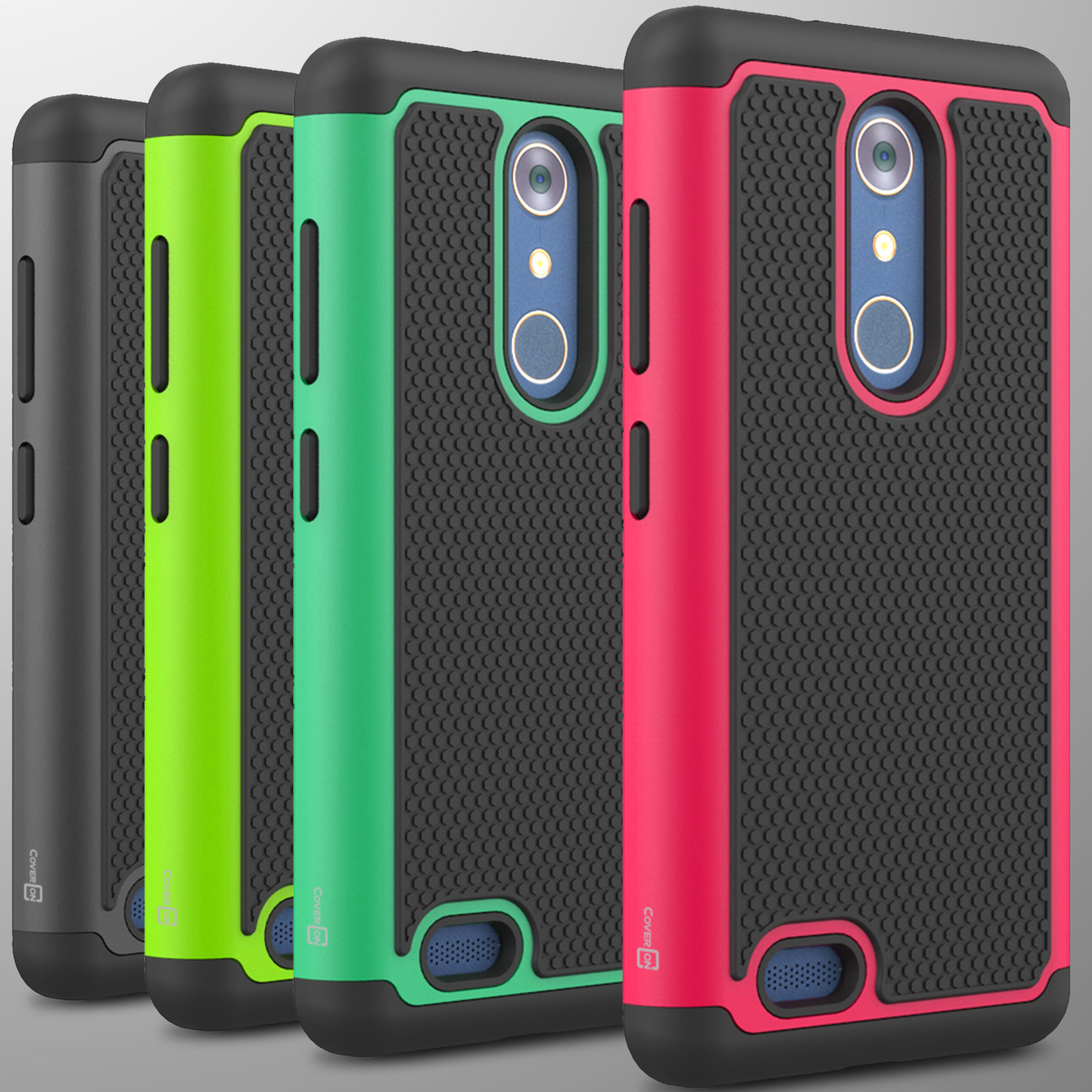 For ZTE ZMax Pro / Carry Case Tough Protective Hard Hybrid Phone