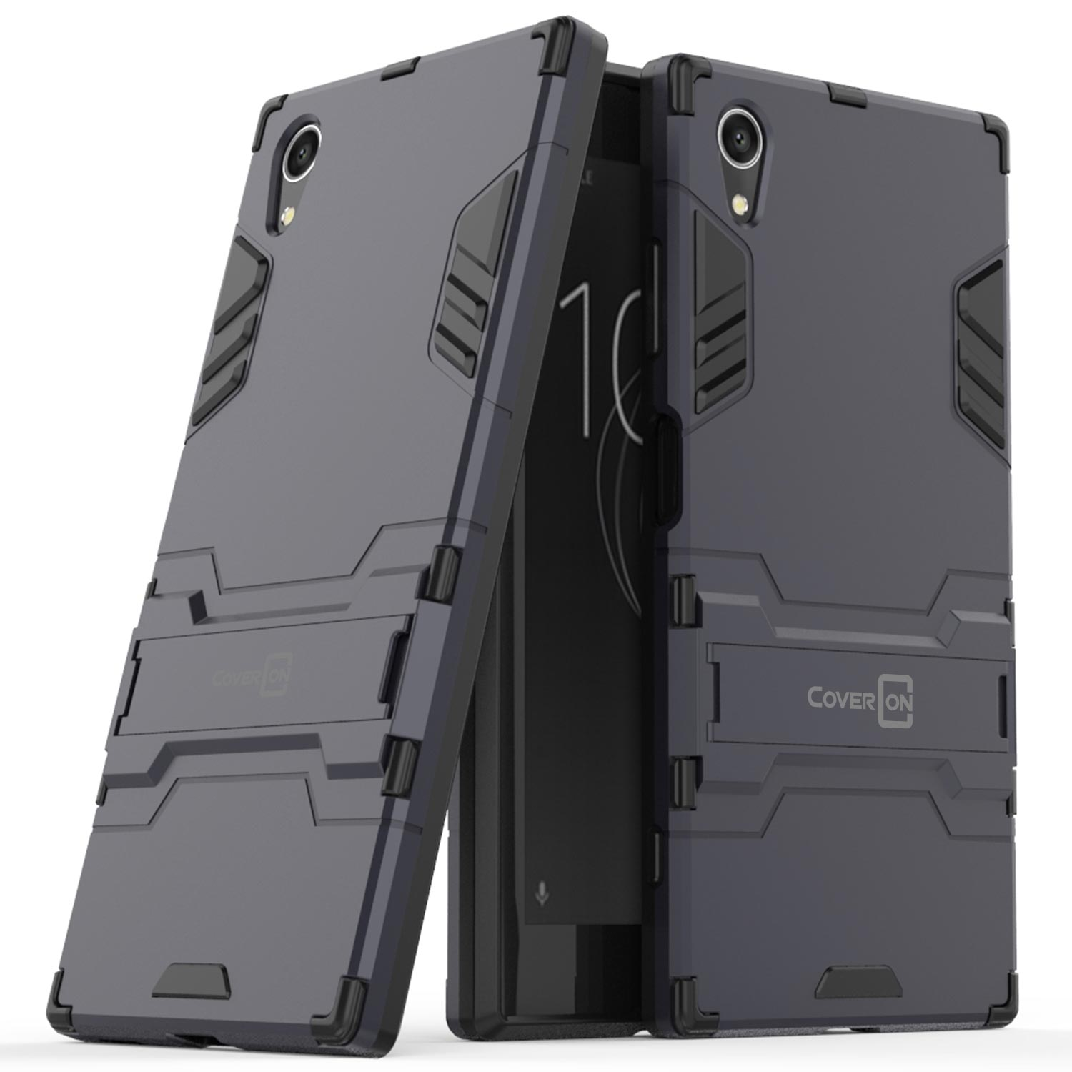 release date bce6d 1b025 Details about For Sony Xperia XA1 Plus Hard Case Navy / Black Kickstand  Protective Phone Cover
