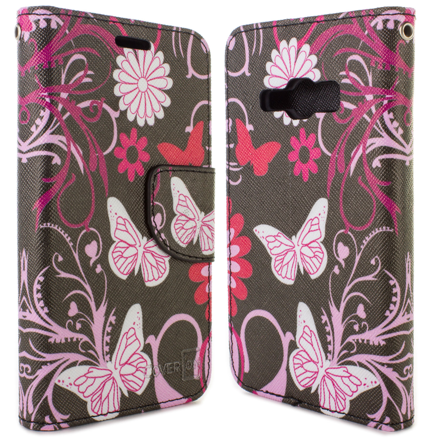 best service 7753d 23578 Details about Pink Butterfly Wallet Pouch Cover Credit Card Case For  Samsung Galaxy J1 Ace