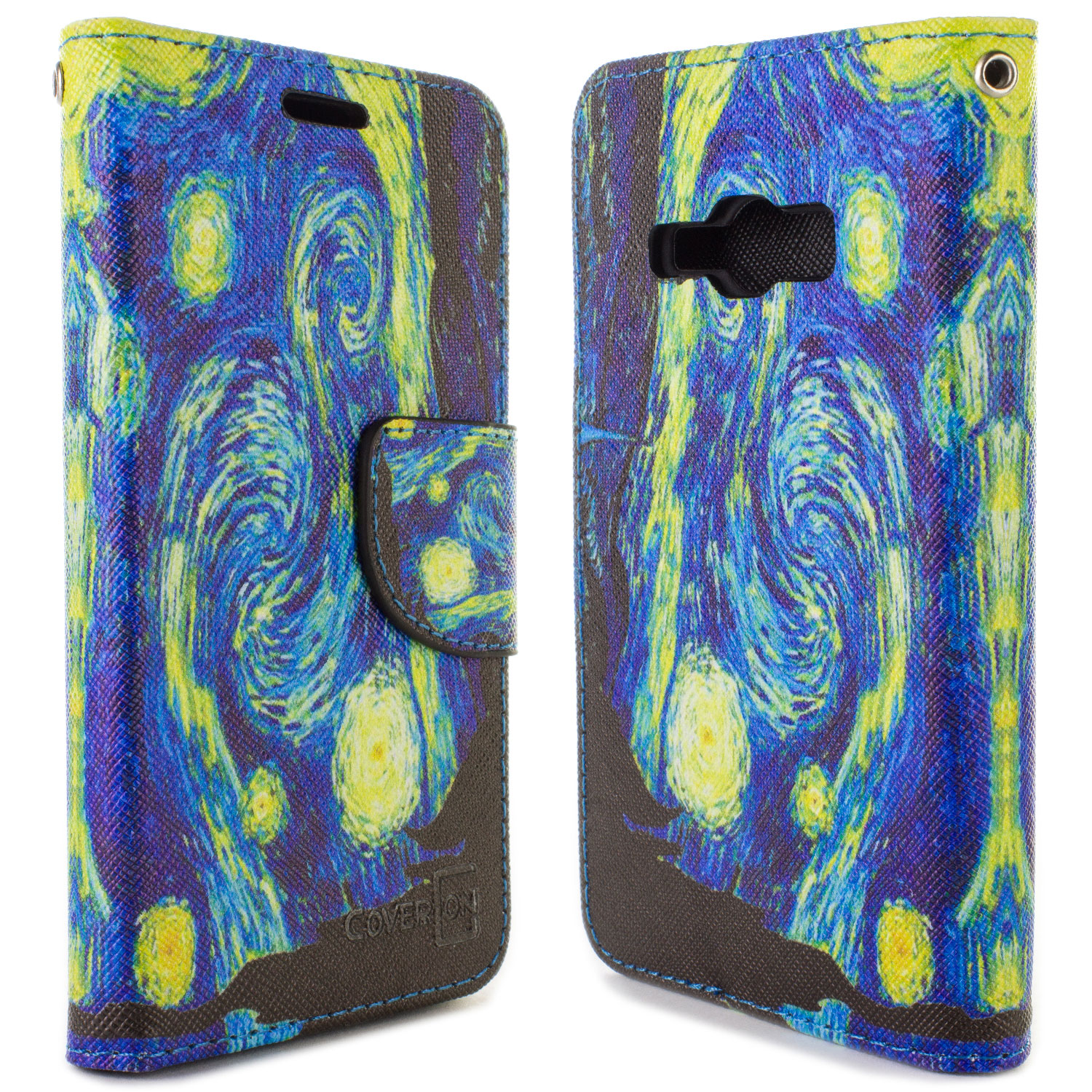 49f2ed882d5 Starry Night Card Wallet Pouch Cover Credit Card Case For Samsung ...