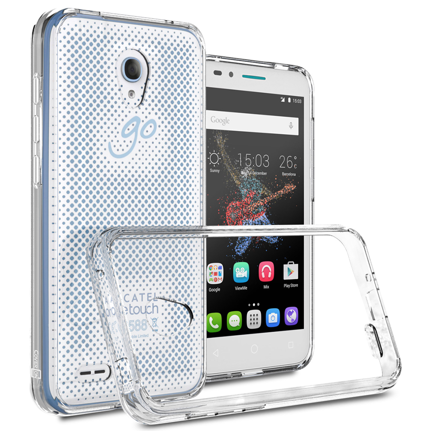 watch e0b35 4e866 Details about Clear TPU Bumper Hard Back Cover Case for ALCATEL One Touch  Go Play Conquest